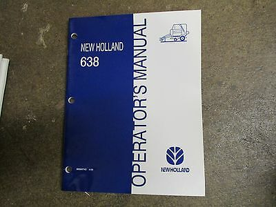 New Holland 638 Baler Owners Maintenance Manual