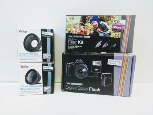 Vivitar Digital Camera Accessories Lot! (NEW)