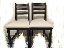 2 black 99 % new IKEA dining chairs $15 EACH Chatswood Willoughby Area Preview