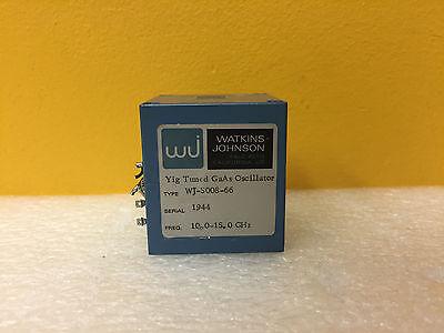 Watkins Johnson Wj-5008-66 10 To 15 Ghz Sma F Yig Tuned Gaas Oscillator