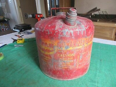 Vintage 5 Gallon Eagle Oil Gas Can Usable Condition  Lot 18-84-3-f