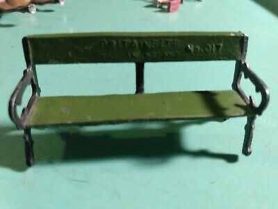 """Vintage Britain LTD made in England No.017 park bench 2.5"""" L 3/4 W 1.25 T Nice"""