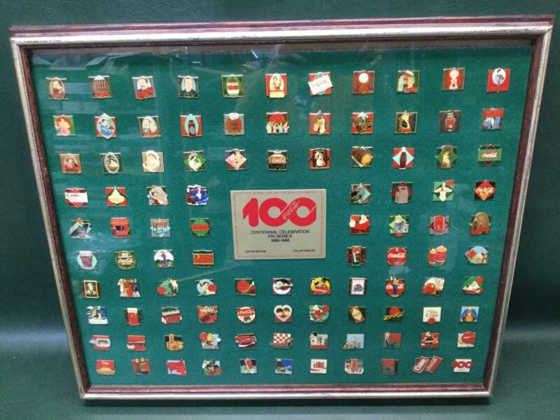 Vtg COCA-COLA LTD. ED.100 Years Centennial Celebration Pin Series Set 1886-1986