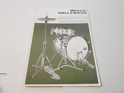 VINTAGE MUSICAL INSTRUMENT CATALOG #10079 - 1960s MEAZZI HOLLYWOOD DRUMS