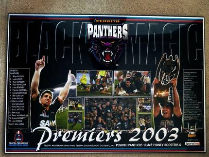 Penrith Panthers 2003 Premiers Wall Plaque
