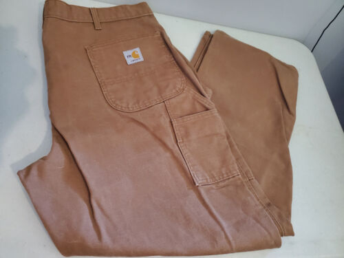 Pre owned Carhartt FRB152 - Flame-Resistant Duck Work Dungaree 40 x 30