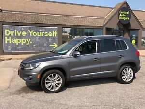 2015 Volkswagen Tiguan HIGHLINE / LEATHER / NAVIGATION/ SUNROOF