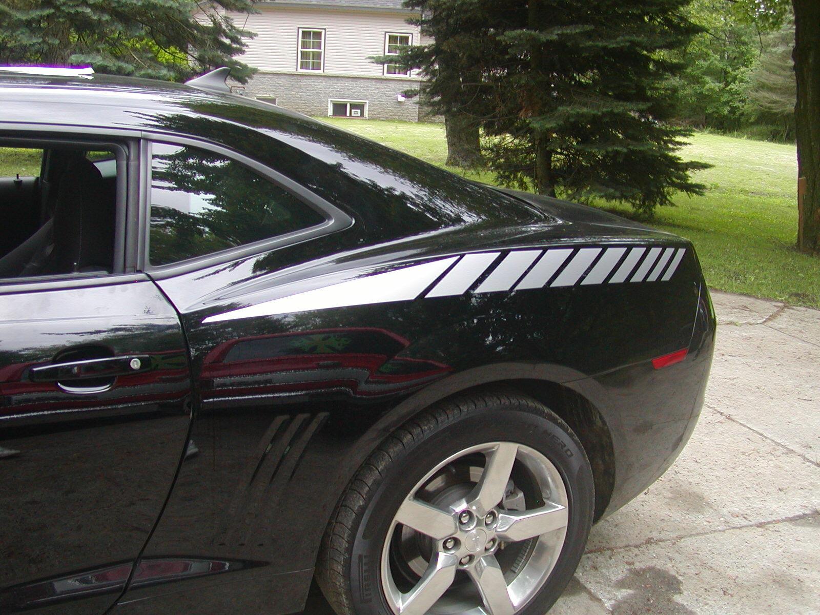 2010 2012 2013 14 2015 Camaro Faded Rear Quarter stripes Stripe Graphics Decals