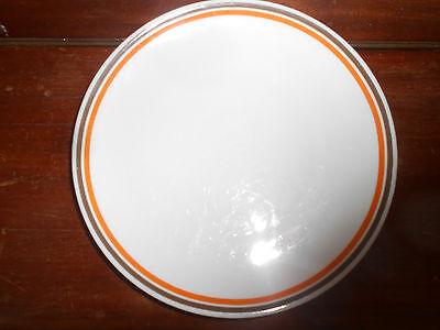 Hutschenreuther Arzberg Bavaria Kuchenteller Frühstücksteller weiß  orange braun