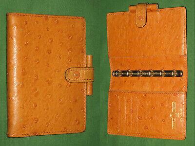 Pocket 0.5 Brown Ostrich Leather Lagenda Moderne Paris Planner Binder Filofax
