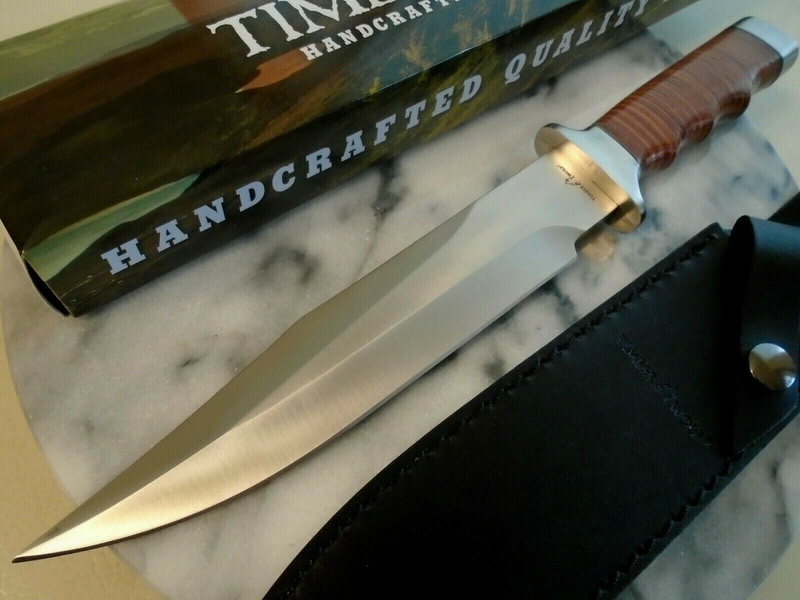 Timber Wolf Vietnam Style Combat Fighter Bowie Hunter Knife