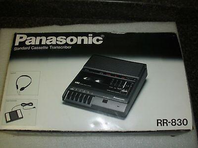 Panasonic Rr-830 Desktop Cassette Transcriber Recorder - New In Box