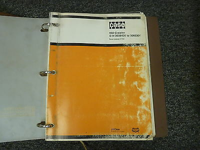 Ji Case Model 450 Crawler Loader Parts Catalog Manual Book Sn 3038436-3060306