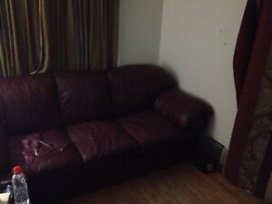 Nice big leather couch