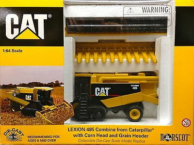 1/64 NORSCOT CATERPILLAR LEXION 485 COMBINE W/CORN & GRAIN HEAD
