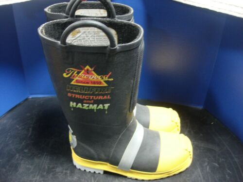 THOROGOOD HELLFIRE STRUCTURAL AND HAZMAT FIREFIGHTING BOOTS 807-6003 9M 9