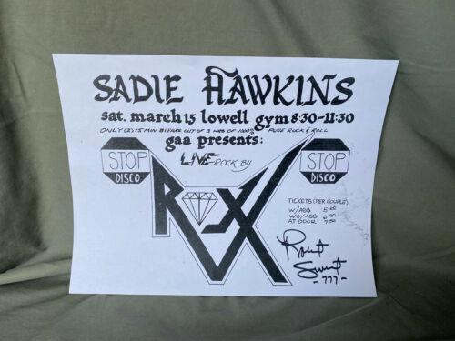 Stryper ROBERT SWEET autograph ROXX REGIME Dance Poster Original Signed RARE