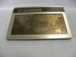 Vtg Modern Eames Era Retro Seiko World Time Touch Sensor Desk Clock (A7)