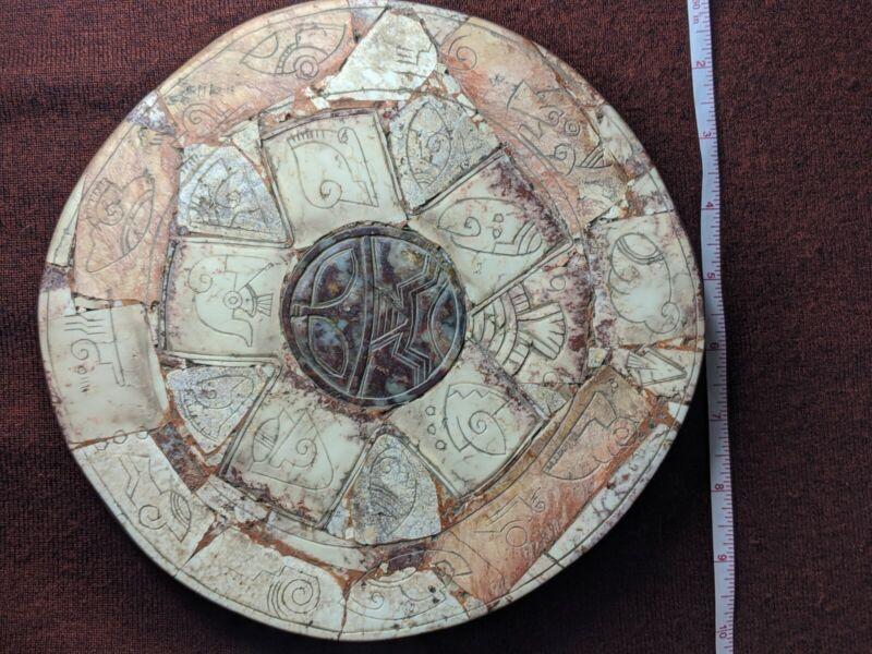 Ojuelos de Jalisco Alien Artifact. Authentic Aztlan Artifact Calendar. Ancient