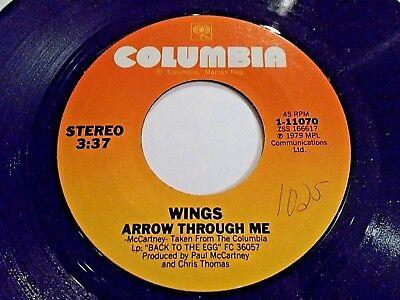 Paul McCartney & Wings Arrow Through Me / Old Siam Sir 45 1979 Vinyl Record ()