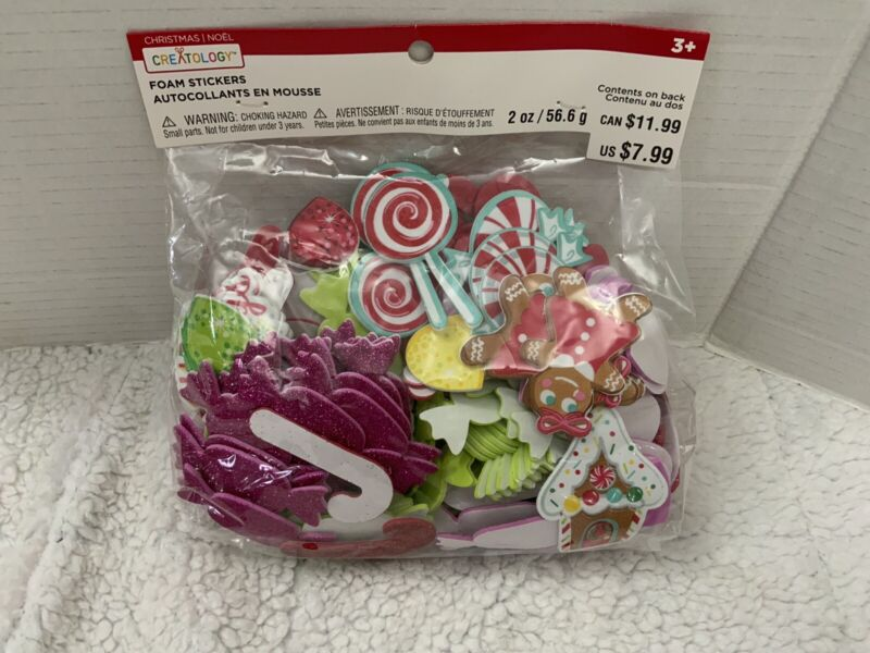 Creatology Christmas Craft Happy Holidays Mixed Foam Stickers New In Package