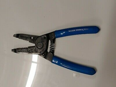 Klein Tools Wire Cutter Stripper 1011 Usa Awg Stranded Copper Only