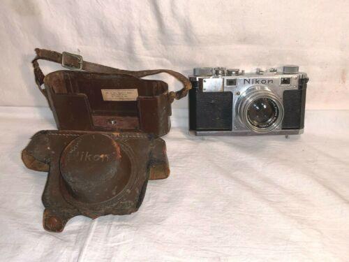 Vintage NIKON S NIPPON KOGAKU 35mm Rangefinder CAMERA Case 50mm NIKKOR 1:2 Lens