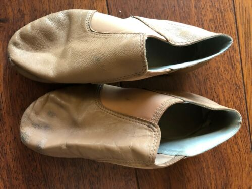 girls TRIMFOOT COMPANY JAZZ BOOTIES shoes BEIGE leather dance tan GB301 size 6