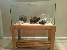 3 foot aquarium with pine timber stand West Hoxton Liverpool Area Preview