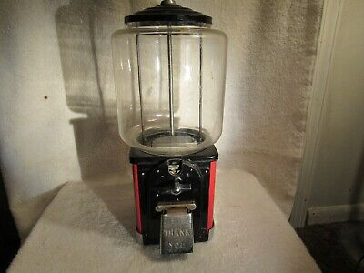 Vintage Original 1950s Victor Topper Gumball Machine-One Cent Penny Gum vending