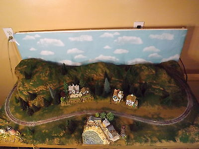 N SCALE TRAIN SET LAYOUT PLATFOARM CUSTOM MADE BEACH FRONT  DETAILED BUILDINGS, used for sale  Bay City