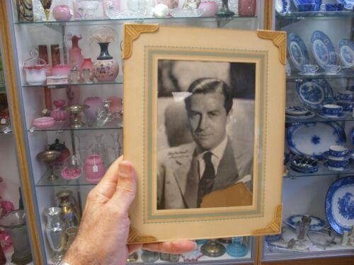 "Vtg Art Deco Photo Frame 9"" X 7"" Actor Ray Milland"