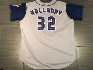 Pro Majestic Roy Halladay Toronto Blue Jays Baseball Jersey