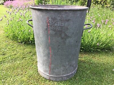 Vintage Large 28lbs Beldray Galvanised Bin / Container /  Allotment / Prop / Ash