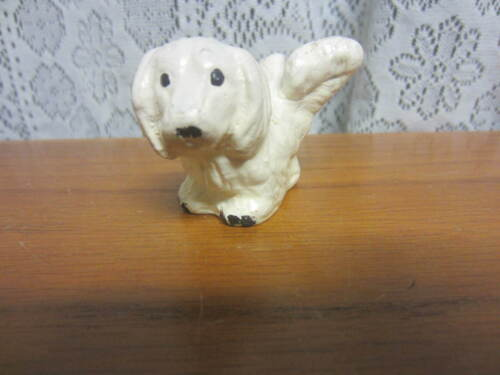 Vintage White Dog Lifting His Leg-Salt or Pepper Shaker