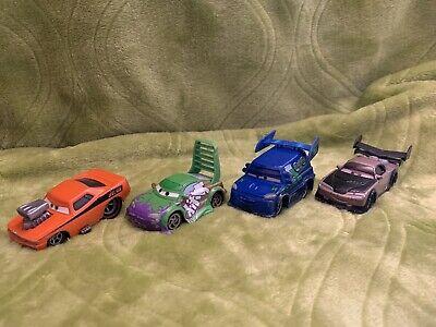 Disney Pixar Diecast Cars Lot of 4 Snot Rod, DJ, Boost, and Wingo