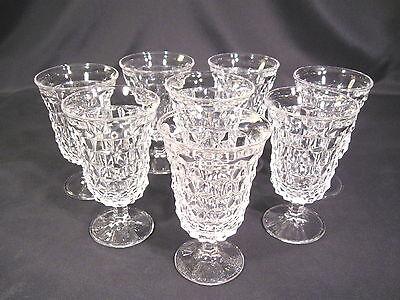 Fostoria American Low Water Goblet Set of 8