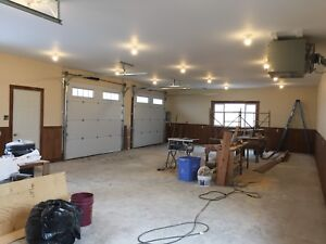 1152 square foot heated garage storage space workshop for rent