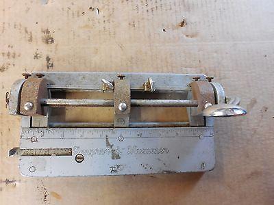 Vintage Improved Hummer Adjustable 3 Hole Paper Punch Wilson-jones Model 308