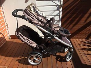 Steelcraft Strider Compact pram + second seat Fairlight Manly Area Preview