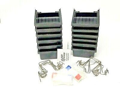 Right Arrange Pegboard Bins Kit 12 Pack Black Pegboard Storage New-open Box