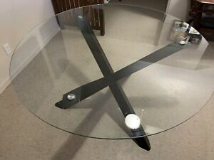 Round Glass Dinning Table
