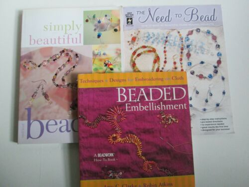 Bead Working Instruction & Designs Lot of 3 PB Books Jewelry Making Beading