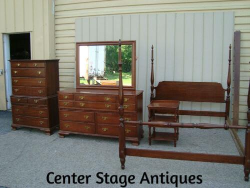 60149   Pennsylvania House Bedroom Set High Dresser w/ Mir. Nightstand QUEEN BED