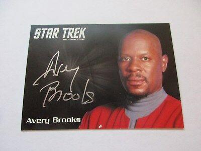 Star Trek DS9 Heroes & Villains Avery Brooks as Sisko Silver Series Autograph