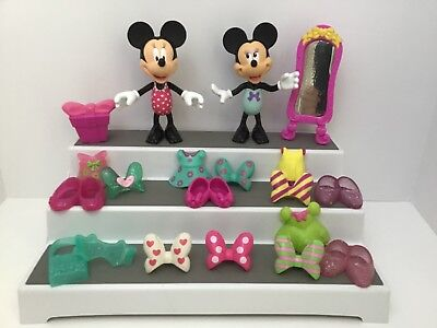 Minnie Mouse Boutique Snap On Lot Of 20 Dolls Accessories A