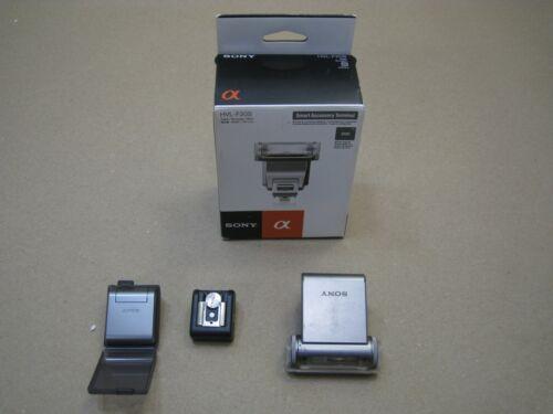 Sony HVL-F20S Flash & Packaging w/ Sony HLV-F7S Flash & Case + Hot Shoe Nex 3 5