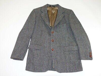 Harris Tweed Men's Herringbone Sport Coat Size 42 Regular Gray 42R Blazer Jacket