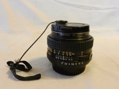 Vintage Minolta 50mm Wide Angle MD 1:1.7 Lens, and Filter