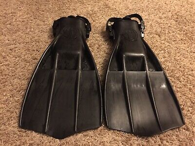 Military Special Ops Gear Heavy Duty Used IST Rubber Rocket Scuba Fins